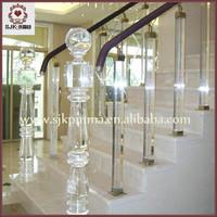 Acrylic Crystal Acrylic Balusters ,Acrylic Decorative Stair Railings