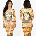 moda feminina sexy vestido sem mangas vestido longo vestido de cleópatra