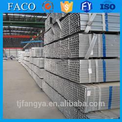 Tianjin gi square rectangular pipe ! pre galvanized drain pipe green house pre galvanized steel pipe 42mmx1.5mm