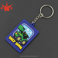 Promotion cheap custom soft PVC keyring for gifts
