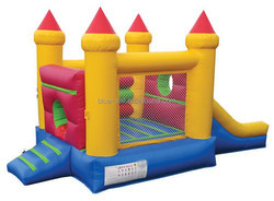 New designed inflatable slide with obstacle,inflatable obstacle slide