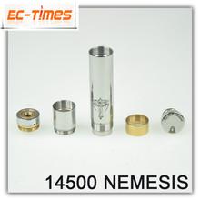 2014 New Arrival Mechanical Mod E Cig nemesis mod 14500 mechanical mod Looking For Distributors