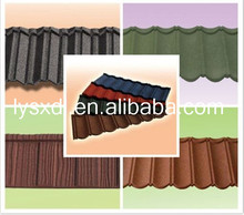 Classic colorful stone coated metal roofing tile / Metal corrugated tile roofing/Stone Chip Coated Metal Roof asphalt shingles