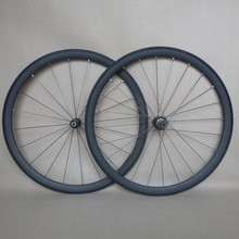 Only 1200g R38T Super lightweight 38mm carbon tubular wheels front and rear with Sapim cx-ray spokes