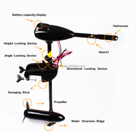 Free shipping Electric trolling motor inflatable boat outboard engine /3blades propeller Electric Outboard Engine