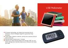 High quality 3d USB Pedometer for outdoor activities
