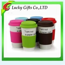 Fashionable Custom Ceramic Coffee Mug With Silicone Lid
