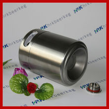 Beverage Industrial Use 2L stainless steel beer container