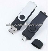 new usb 2.0 4gb smartphone usb disk, double port usb flash drive, mobile phone usb key
