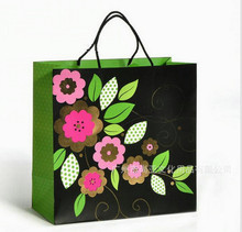 Paper shopping carry bag with full printed