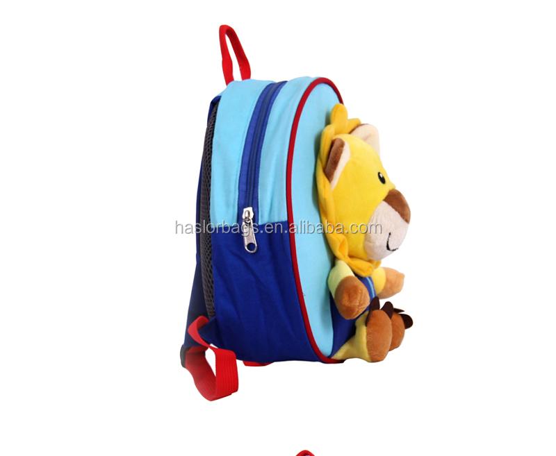 2015 nouvelle conception adorable modèle de dessin animé lion sac à dos pour enfants