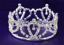Bridal Wedding Prom Princess Flower Girl / Baby Rhinestone Full Circle Round Mini Crown CT1736