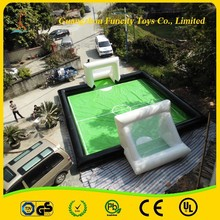 customizable inflatable football field, soap soccer pitch