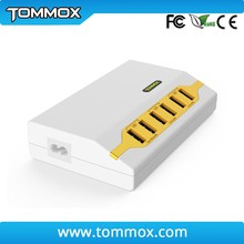 40W 6-Port USB portable Desktop Charger Power Adapter with 1.5 m Power Cord for Apple, for samsung