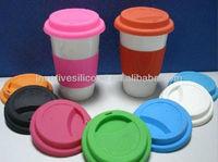 Sedex Audited Factory custom design ceramic mug with silicone lid and sleeve