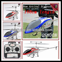 New Style for 2013 Remote Control Helicopter 3.5ch biggest 168cm wireless rc helicopter qs8008