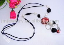 jewelry necklace , leather necklace ,Fashion leather necklace 2013 (J.M.Fashion) J.M.N-022
