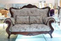 Italian antique style sofa/antique velvet sofa/antique wooden sofa A61-a