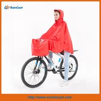 Waterproof polyester pvc bike rain poncho