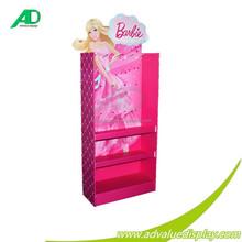 Eye-catching Barbie Dolls Display Stand Cardboard Furniture Display