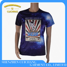 Custom made polyester sublimation Printed T-Shirt