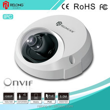 1.3/2.0 Megapixel HD resolution low illumination build-in mic and speaker IP doom security camera with P2P/POE