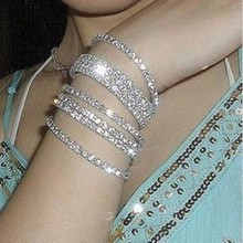 zly326 Fashion Women Crystal Wedding Party Tennis Bracelet Small Crystal Connection Bracelets Jewelry