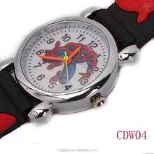 Mini Children Spiderman Water Resistant Quartz Wrist Watch Toy Black