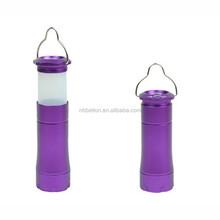 high quality aluminium LED torch flashlight camping lantern working light torch flashlight