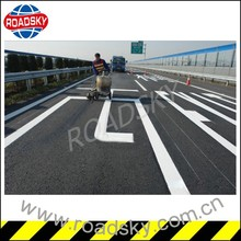 White Traffic Lines Road Marking Paint UK