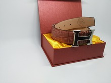Leather belts Customized style G buckle