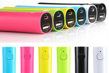 Grade A Slim battery pack 2600mah li-ion battery portable power bank with rubber oil finish