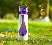 500ml double wall glass coffee tea infuser water bottle bpa free with bamboo lid