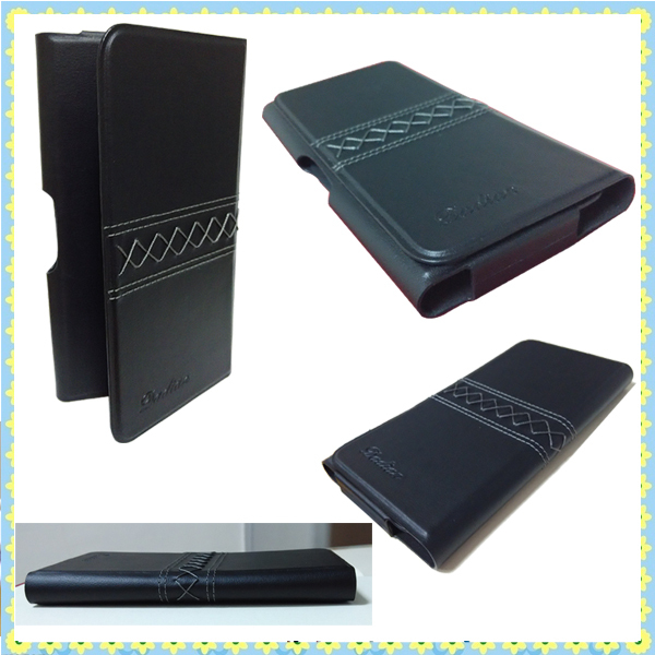 attractive BLACK mobile phone leather case for Samsung S5