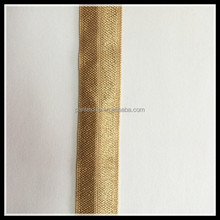 Custom fold over elastic headband webbing