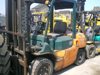 Origianal Japanese durable used TOYOTA 7FD40 forklift 4t in shanghai for sale