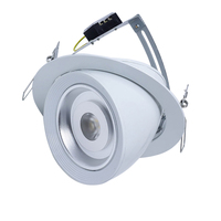 Die-casting Aluminum Lights Adjustable Power Dimmable 15w COB LED Downlight
