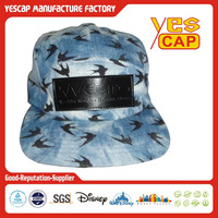 5 -panel stock hat in jean fabric