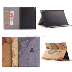Map Pattern stand tablet leather cover case for iPad Air 2/iPad 6