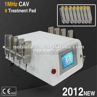 8 treatment pad 2012NEW 1MHz Cavitation fat burning&body shaping beauty machine with CE