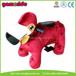 AT0631 coins games plush rocking horse on wheels kiddy toy