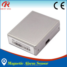 mini intelligent battery operated voice activated home alarm with magnetic sensor