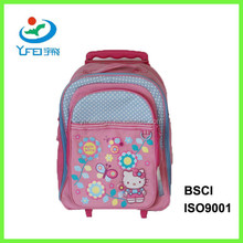 YF-SC015 High Quality Custom School Wheeled Polyester Backpack