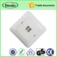 European Convenient Wall Socket with USB Port