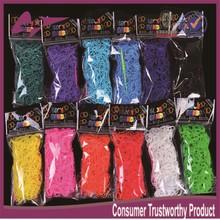 DIY Silicone Loom Bands 200pcs/600pcs rubber band loom bags