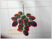 artificial red leaves / fabric artificial leaves