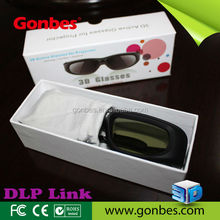 OEM Printing active 3d glasses, 3d video glasses for DLP projector
