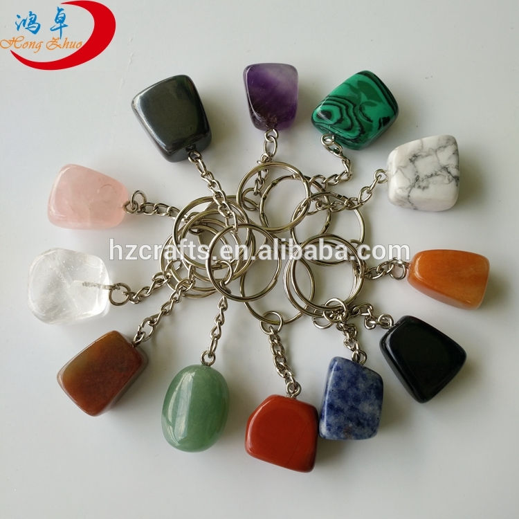 polished tumbled stones key