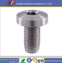 Cylinder head screws SS316 SS304 Stainless steel with cut tail groove from Yuyao OuKaiLuo