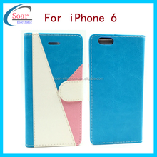 Light and handy style leather case cover for iPhone 6 4.7 inch, mobile phone leather case for iphone 6